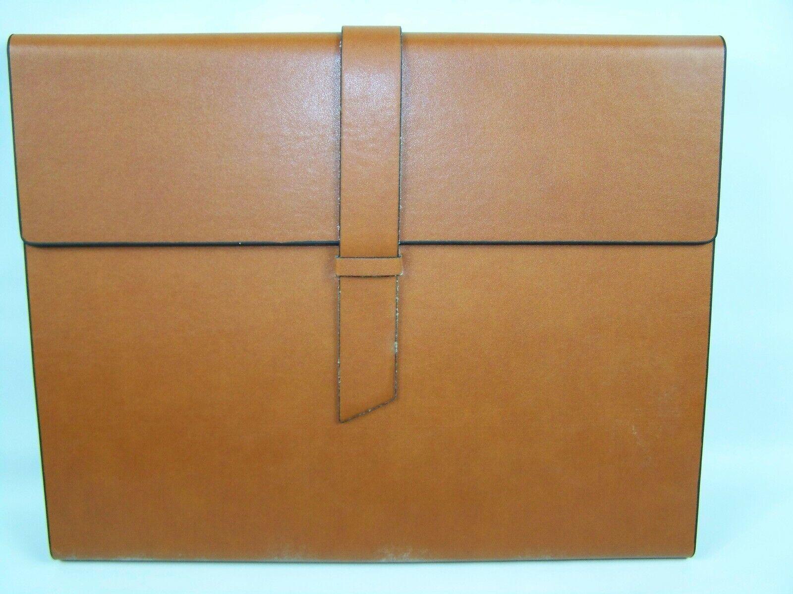 Gallaway Leather Padfolio Portfolio Folder Light Brown New i