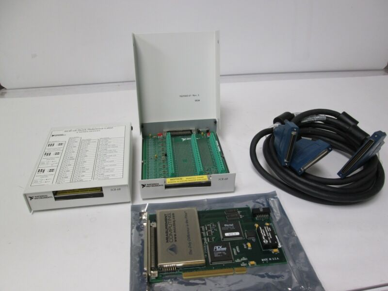 Measurement Computing PCI-DAS6035 DAQ Analog Output Card, Cable, SCB-68 Kit