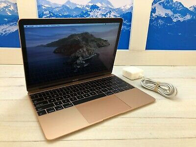 "Apple MacBook Retina 2017 12"" Laptop 512GB SSD 1.3GHz 8GB RAM Gold 2 cycles"