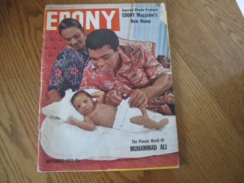Vintage EBONY MAGAZINE September 1972 MUHAMMAD ALI Boxing Champ