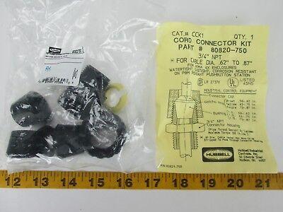 Hubbell PT# 808270750 Enclosure Cord connector Kit Cat.# CCK1 3/4
