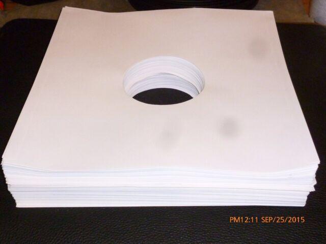 """NEW 100 12"""" Record Sleeves White Paper Inner LP Vinyl Album 33 acid free"""