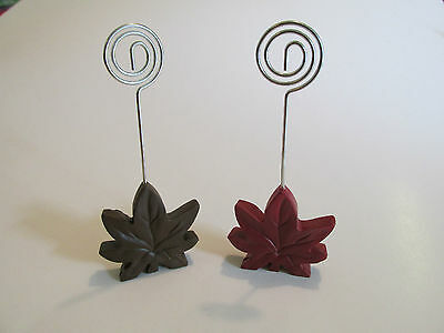 12 FALL LEAF PLACE CARD HOLDERS Name Card guest place setting party table