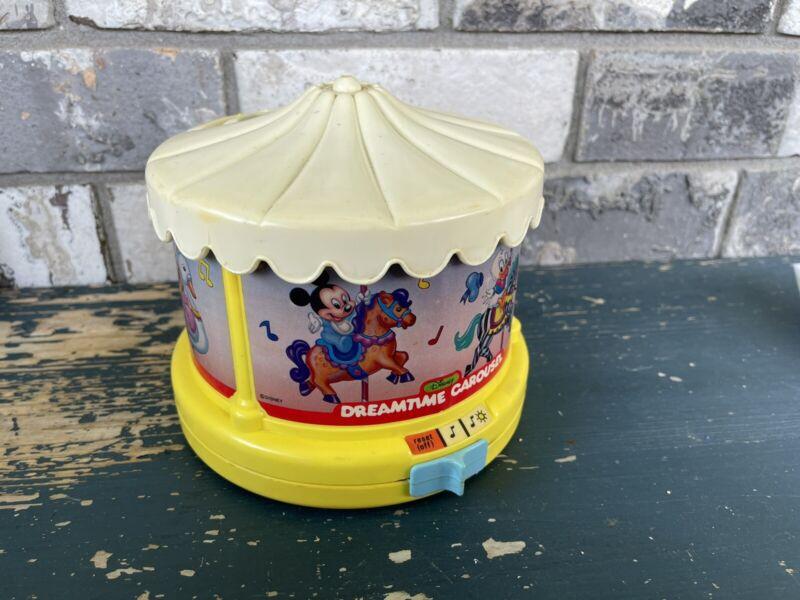 Vintage 1988 Disney Dreamtime Carousel Partially Working