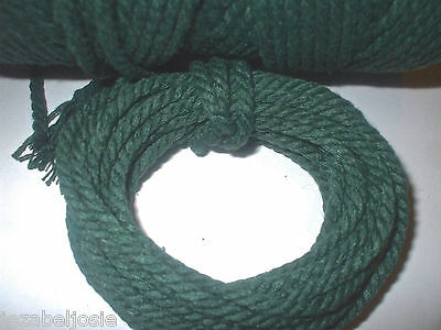 5 or 10 metres of 4mm Chunky SOLID GREEN Cotton Bakers Twine  Christmas Tags