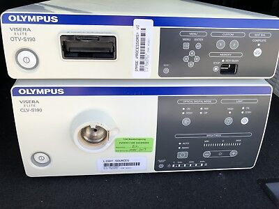 Olympus Otv-s190 Processor And Clv-s190 Light Source Set.