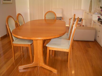 Noblett solid timber extendable Teak finish Dining Table