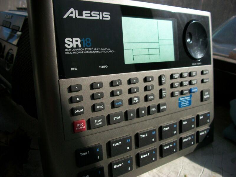 Alesis SR18 Digital Drum Machine W/ Power Supply SR-18