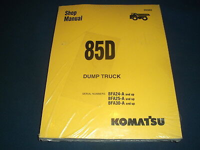Komatsu 85d Dump Truck Service Shop Repair Workshop Manual