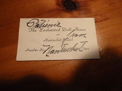 Vintage The Enchanted Doll House Nantucket Business Card