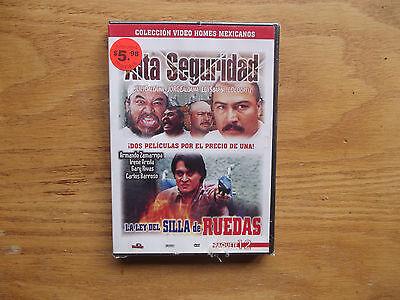 Alta Seguridad   La Ley Del Silla De Ruedas  Dvd  Rare Spanish Double Feature