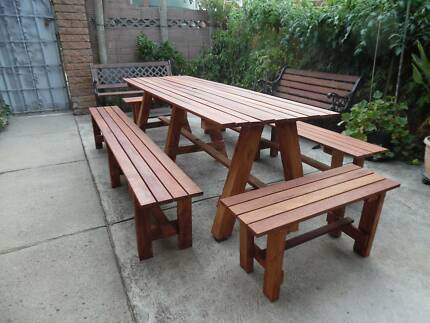Extra huge and extra h/duty merbau timber outdoor setting2400x780 & Design Your Own Outdoor Setting- Melbourne Made | Outdoor Dining ...