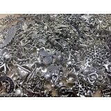 Lot of 100 Assorted Mixed Themes Sizes Silver Tibetan Tibet Charms NEW