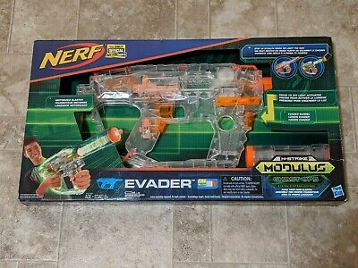 NERF N-Strike Ghost Ops Modulus Evader Motorized Light-Up Toy Dart Gun NEW LOOK