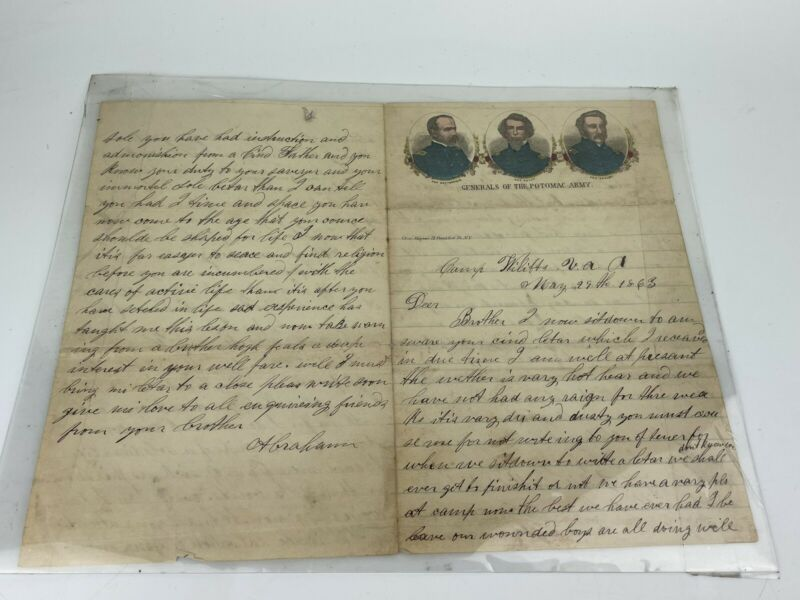 Civil War Soldier's Letter 1863 - 24th NJ Vol Inf Picket Duty, Rebels & Wounded