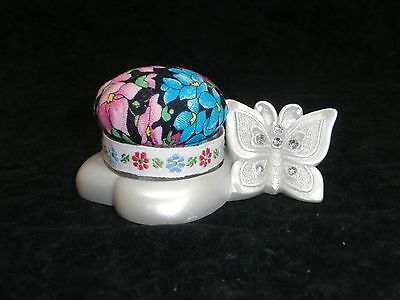 PRETTY BUTTERFLY AND HEART PIN CUSHION Butterfly Pin Cushion