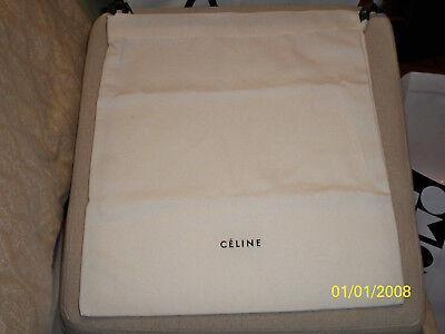 """CELINE Authentic New White Cotton Dust Cover 14 x15"""" Shoe/Purse Dust bag"""