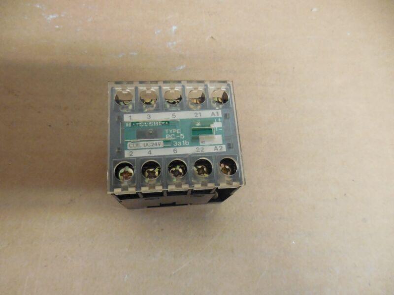 MATSUSHITA CONTACTOR BMP650514 PC-5 3a1b 24V COIL 15A A AMP