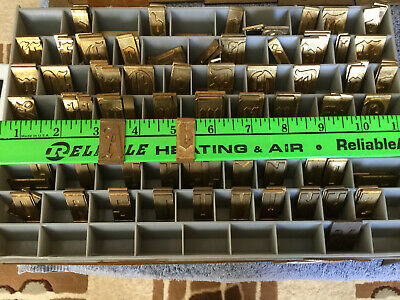 New Hermes Engraving Font Set Letters Numbers Brass