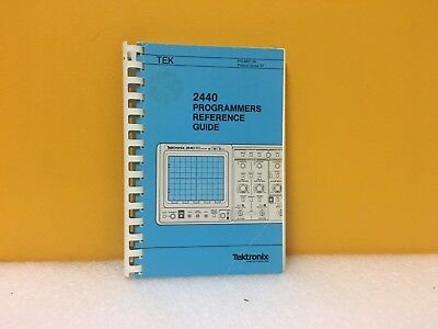 Tektronix 070-6601-00 2440 Programmers Reference Guide