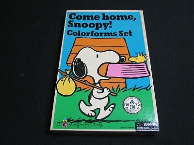 Come Home SNOOPY Colorforms Sticker Charlie Brown 2017 Repro of vtg 1972 Set
