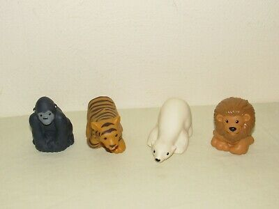Fisher-Price Little People ZOO TALKERS ANIMAL LOT Polar Bear Tiger Gorilla Lion