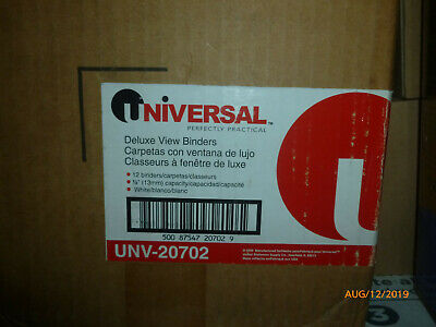 Universal Deluxe View 12 Inch 3-ring Binders Unv-20702 White Box Of 12