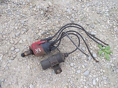 Massey Harris 33 Tractor Orignl Mh Engine Motor Distributor Drive W Coil Holder