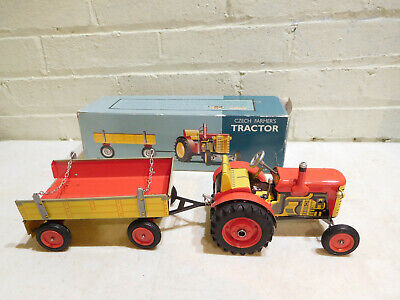 Classic Tin Toys Restoration Hardware Czech Farmers Tractor Tin Metal Toy for sale  Shipping to India