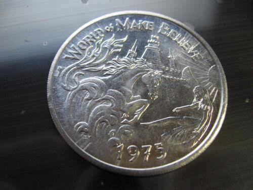unicorn castle fairy 1975 Mardi Gras Doubloon Coin new orleans castle vintage