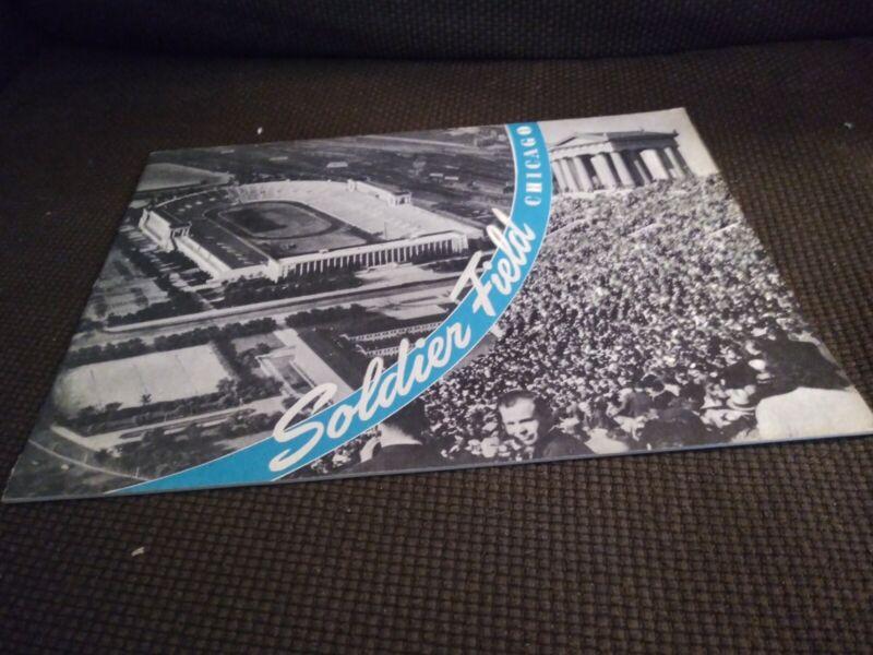 Soldier Field Guide Book Chicago Architecture Stadium 1940s