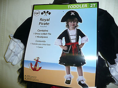 Infant Girls 2T Royal Pirate Halloween Costume-Girls Costume-Girls Toddler  - Pirate Baby Girl Costume