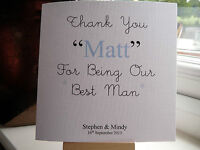 Handmade Personalised Thank You For Being My Our Best Man Usher Page Boy Card - j.a.m. 23 designs - ebay.co.uk