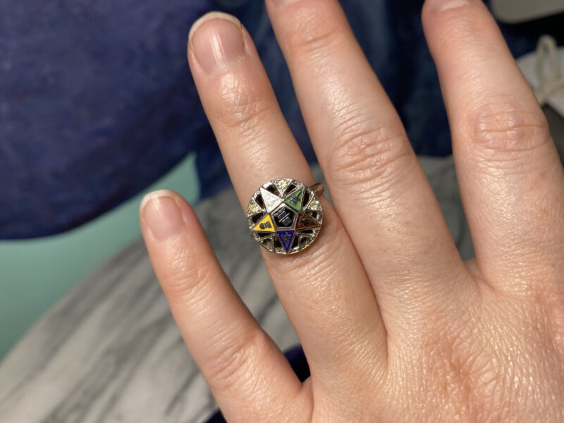vintage 1940s order of the eastern star ring
