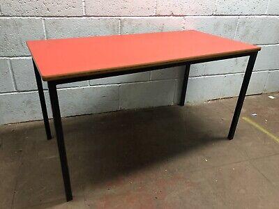 Vintage School Desk Red Top