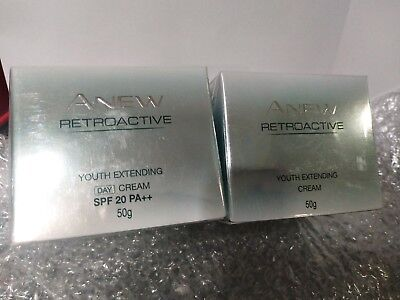 (Avon Anew Retroactive Youth Extending Day & Night Cream Set 50g NEW Discontinued)