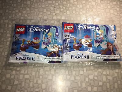 LEGO Disney Frozen II 30553 Elsa's Winter Throne Lot of 2 New in Package, Sealed