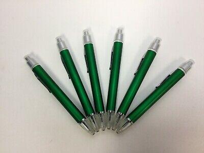 6 Lot Misprint Light Up Pen Rollerball Green Usa Seller