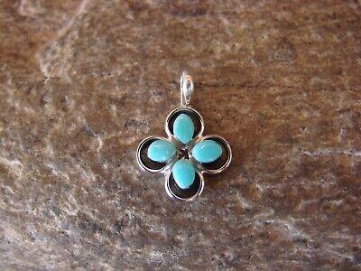 Zuni Indian Jewelry Turquoise Petite 4 Stone Pendant ! Janice Lonjose