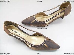 Clarice Emily Ladies Shoes Bronze 8.5 New