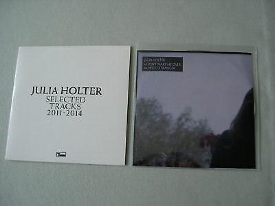 JULIA HOLTER job lot of 2 promo CDs Selected Tracks 2011-2014 Don't Make Me