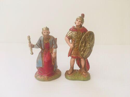 "Roman Soldier and King Herod Figurines for 2"" Landi Presepio Soldados Nativity"