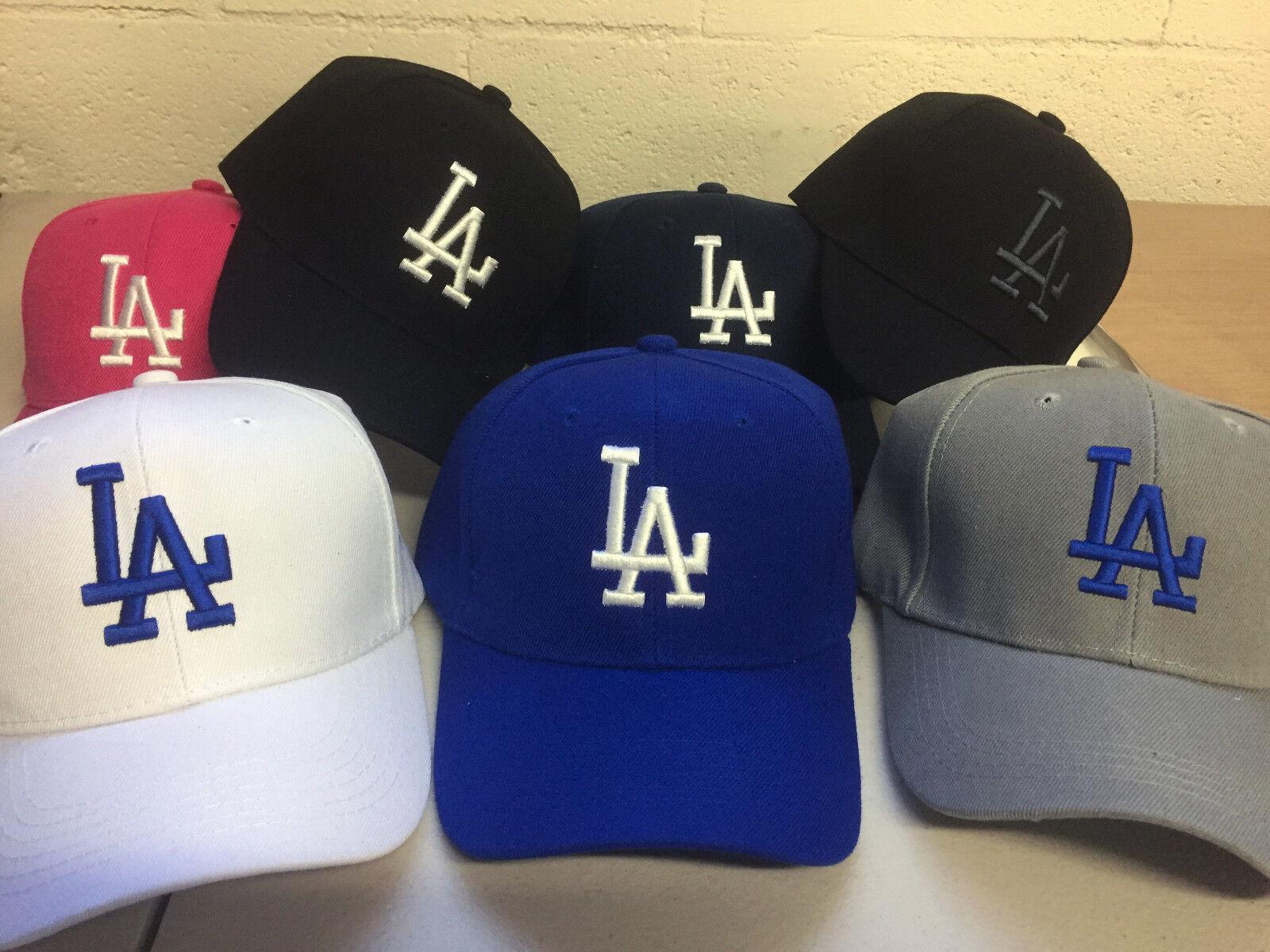 Los Angeles Dodgers Cap Hat Embroidered LA Men Adjustable Curved FREE RETURNS