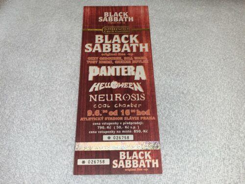 BLACK SABBATH PANTERA 1998 UNUSED CONCERT TICKET ATLETICKY STADIOM OZZY OSBOURNE
