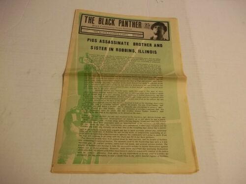 Black Panther Newspaper  Nov. 21, 1970  Bobby Seale, Ericka Huggins VG+