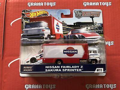 Nissan Fairlady Z Sakura Sprinter #11  2019 Hot Wheels Car Culture Team Trans...