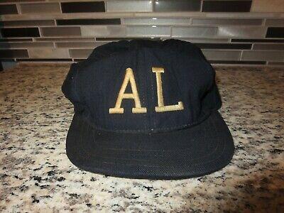 dcf9dffe2dc American League AL MLB UMPIRE 1940s Game Used Worn New Era Baseball Cap Hat