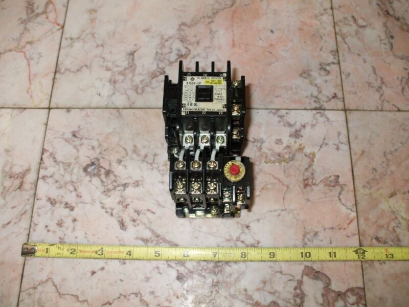 HITACHI AC MAGNETIC CONTACTOR  K10N-EP W/ RELAY TR11-1E