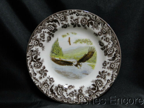 "Spode Woodland Birds of Prey Spring Bald Eagle: Salad Plate, 7 3/4"", NEW w/ Box"
