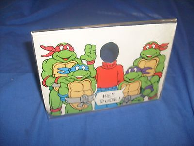 Vintage 1990 Ninja Turtle Picture Frame - with you in it for kids   dude  / e5](Ninja Turtle Movie For Kids)